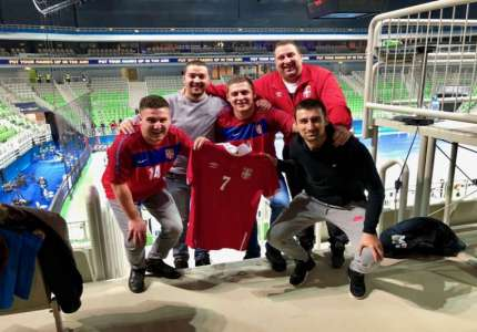 Podrška futsal reprezentaciji Srbije i iz Blaca