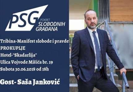 PSG u Prokuplju organizuje tribinu, gost Saša Janković