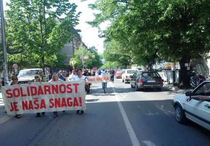 Protestna šetnja ulicama Prokuplja, vraćanje u devedesete