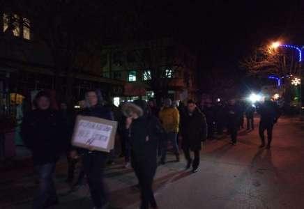 U Kuršumliji i večeras protesti protiv vlasti