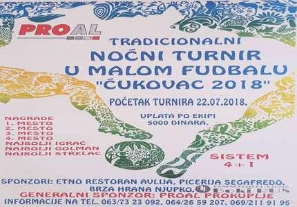 """Od nedelje noćni turnir u malom fudbalu """"Ćukovac 2018."""""""